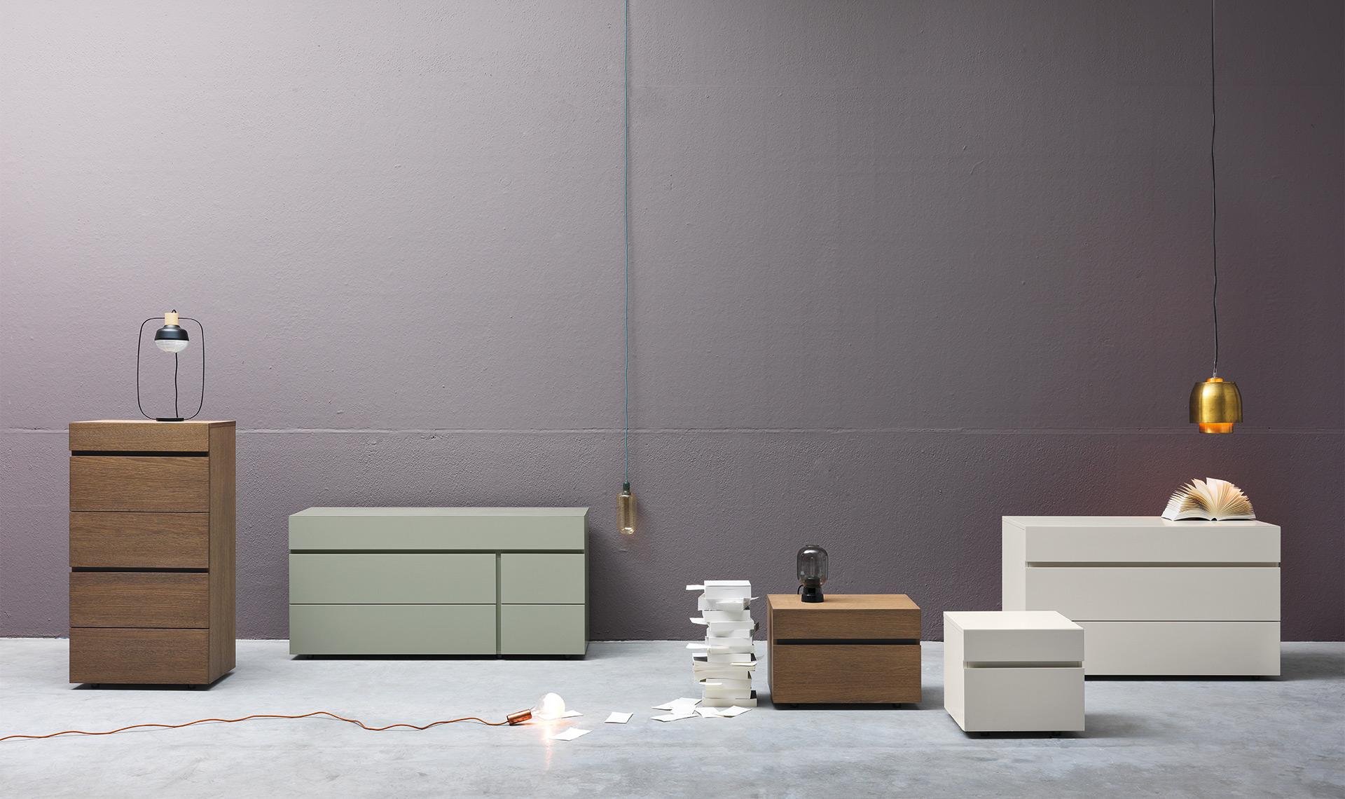 Contenitori notte: Linea - design moderno Alf DaFré