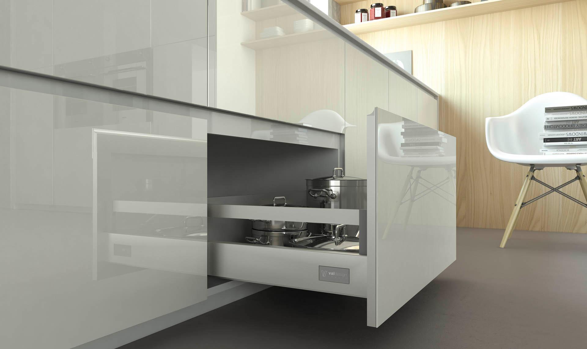 Valdesign realizza cucine moderne cucine moderne di alta - Ante in vetro cucina ...